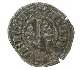Monnaie, Anjou, Obole à la clé et aux lis , Charles III le Valois, Billon, 1290/1325, Angers, P10033