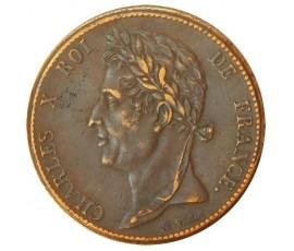 Monnaie, Colonies, 5 cent pour la Guyanne et le Sénégal, Charles X, Bronze, 1825, Paris (A), P10734