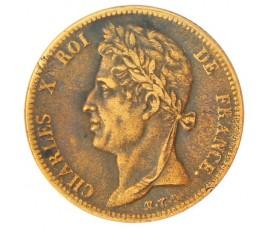 Monnaie, Colonies, 5 cent pour la Martinique et la Guadeloupe, Charles X, Bronze, 1827, La Rochelle (H), P10735
