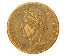 Monnaie, Colonies, 10 cent pour la Guyanne et le Sénégal, Charles X, Bronze, 1825, Paris (A), P10738