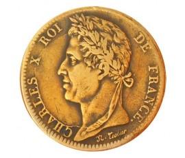 Monnaie, Colonies, 10 cent pour la Martinique et la Guadeloupe, Charles X, Bronze, 1827, La Rochelle (H), P10739