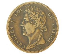 Monnaie, Colonies, 10 cent pour la Guyanne, Charles X, Bronze, 1828, Paris (A), P10740
