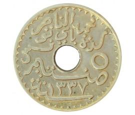 Monnaie, Colonies, 5 centimes protectorat, Mohamed en Naceur, Cupronickel, 1919, Paris, P10752