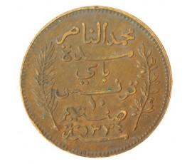 Monnaie, Colonies, 10 centimes protectorat, Mohamed en Naceur, Bronze, 1916, Paris (A), P10754