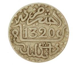 Monnaie, Maroc, 1 dirham, Abdul Aziz I, Argent, 1320, Londres, P10760