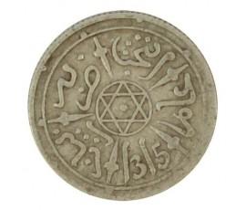 Monnaie, Maroc, 1/2 dirham, Abdul Aziz I, Argent, 1315, Paris, P10762