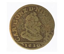 Monnaie, Arches Et Charleville, Liard, Charles Ier de Gonzague, Cuivre jaune, 1610, Charleville, P12701