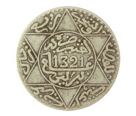 Monnaie, Maroc, 2 1/2 dirhams, Abdul Aziz I, Argent, 1321, Berlin, P10767