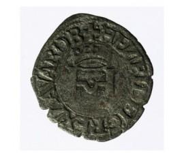 Monnaie, Navarre / Béarn, Liard à la croisette, Henri Ier d'Albret, Billon, Après 1541,, P12769