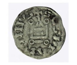 Monnaie, Touraine, Denier anonyme, Abbaye Saint-Martin de Tours, Billon, XIIème/XIIIème, Saint-Martin de Tours, P12770