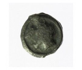 Monnaie, Gaulois, Potin à la tête diabolique, Turons, Potin, Ier siècle avant JC, Tours, P12773
