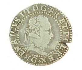 Monnaie, France , 1/2 franc, Henri III, Argent, 1587, Poitiers (G), P10038