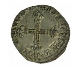 Monnaie, Navarre, 1/4 écu de Navarre, Henri III de navarre et II de Béarn, Argent, 1587, Saint-palais, P12886