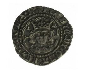 Monnaie, Calaisis, 1/2 gros, Henri VI d'Angleterre, Argent, 1422/1427, Calais, P12899