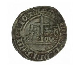 Monnaie, Calaisis, Blanc aux écus, Henri VI d'Angleterre, Billon, 1422, Le mans, P12901