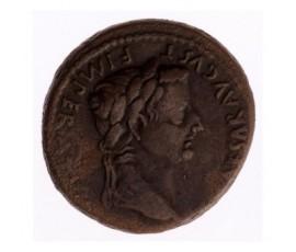 Monnaie, Empire Romain, As à l'autel de Lyon, Tibère, Cuivre, 12/14, Lyon, P12908