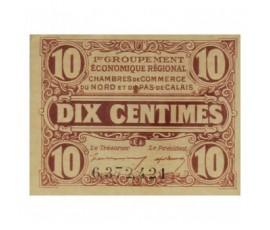 Billet, France , 10 Centimes Chambre de Commerce du Nord et du Pas De Calais, 31/12/1925, B10017