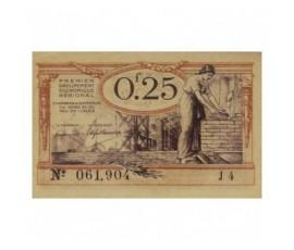 Billet, France , 25 Centimes Chambre de Commerce du Nord et du Pas De Calais, 31/12/1925, B10018