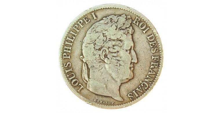 Monnaie, France , 5 francs, Louis-Philippe Ier, Argent, 1831, Toulouse (M), P10817