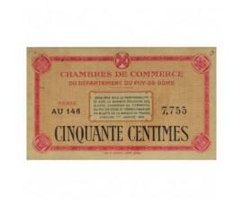 Billet, France , 50 Centimes Chambre de Commerce du Puy de Dôme, 01/01/1920, B10019