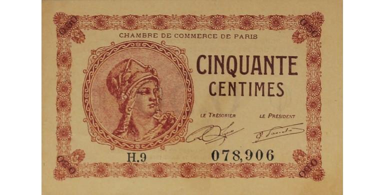 Billet france 50 centimes chambre de commerce de paris - Chambre de commerce bobigny adresse ...