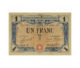 Billet, France , 1 Franc Chambre de Commerce des Deux Sèvres, 13/11/1920, B10024