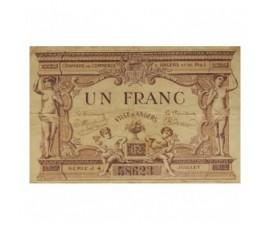 Billet, France , 1 Franc Chambre de Commerce d'Angers, 07/1915, B10026