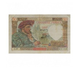 Billet, France , 50 Francs Jacques Cœur, 05/12/1940, B10036