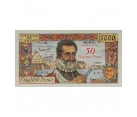 Billet, France , 50 Nf Sur 5000 Francs Henri IV, 30/10/1958, B10121