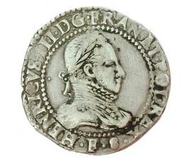 Monnaie, France , 1/2 franc, Henri III, Argent, 1587, Angers (F), P10040