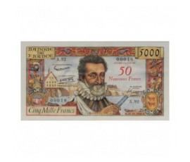 Billet, France , 50 Nf Sur 5000 Francs Henri IV, 30/10/1958, B10123