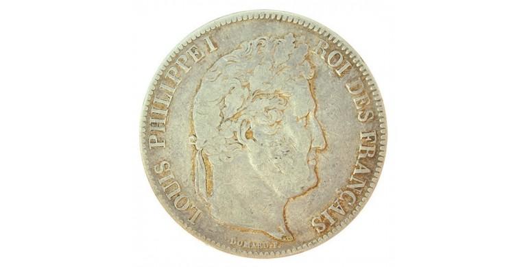 Monnaie, France , 5 francs, Louis-Philippe Ier, Argent, 1837, Strasbourg (BB), P10821