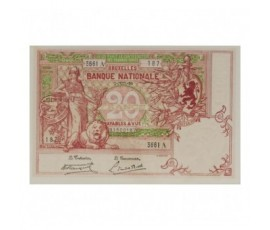 Billet, Belgique, 20 Francs Minerve au Lion, 07/07/1920, B10208