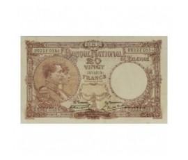 Billet, Belgique, 20 Francs Roi Albert et reine Elisabeth, 02/06/1921, B10209