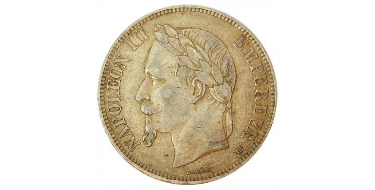 Monnaie, France , 5 francs, Napoléon III, Argent, 1868, Strasbourg (BB), P10825
