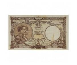 Billet, Belgique, 20 Francs Roi Albert et reine Elisabeth, 07/06/1921, B10210