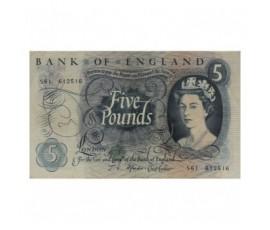 Billet, Angleterre, 5 Pounds Elisabeth II, 1966/1970, B10222
