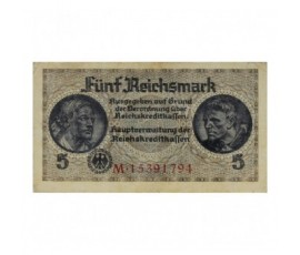 Billet, Allemagne, 5 Reichmark Emission sous l'Occupation, 1940, B10225