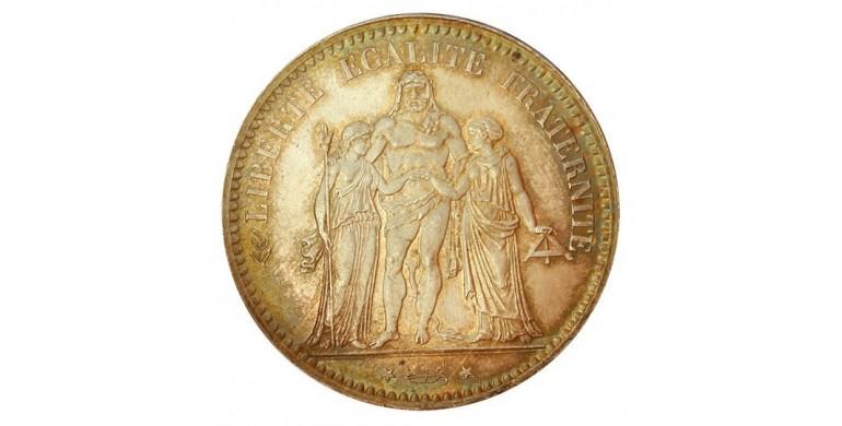 Monnaie, France , 5 francs Hercule, IIIème République, Argent, 1876, Paris (A), P10833