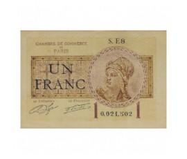 Billet, France , 1 Franc Chambre de Commerce de Paris, 10/03/1920, B10244