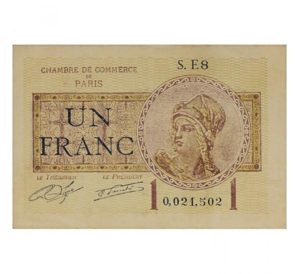 Billet france 1 franc chambre de commerce de paris 10 - Chambre de commerce bobigny adresse ...