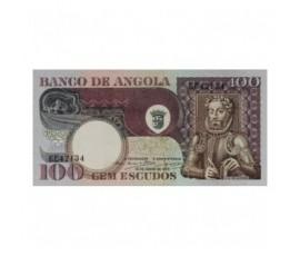 Billet, Angola, 100 Escudos Luiz De Camoes, 1973, B10271