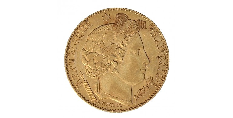 Monnaie, France , 10 francs Cérès, IIIème République, Or, 1895, Paris (A), P10889