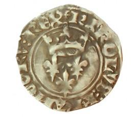 Monnaie, France , Gros dit florette, Charles VI, Billon, 1419, Paris, P10057