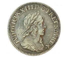 Monnaie, France , 1/12 écu 2ème poinçon Warin, Louis XIII, Argent, 1642, Paris, P10067