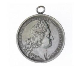 Médaille pour l'avènement de Philippe V d'Anjou au trône d'Espagne,1700,Bronze argenté, M10006