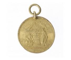 Médaille de la confédération des François,1790,Cuivre doré, M10010