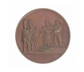 Médaille pour la présentation du nouveau né, le duc de Bordeaux,1821,Bronze, M10024
