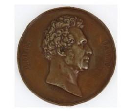 Médaille d'hommage au peintre conventionnel Jacques-Louis David,1822,Bronze, M10027