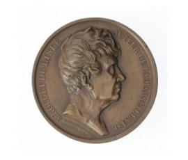 Médaille d'hommage à Claude Joseph Rouget de Lisle,1833,Bronze, M10035